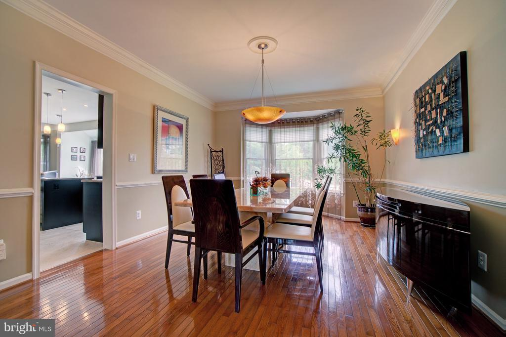Formal Dining Room with Bay Window. - 10753 BLAZE DR, RESTON