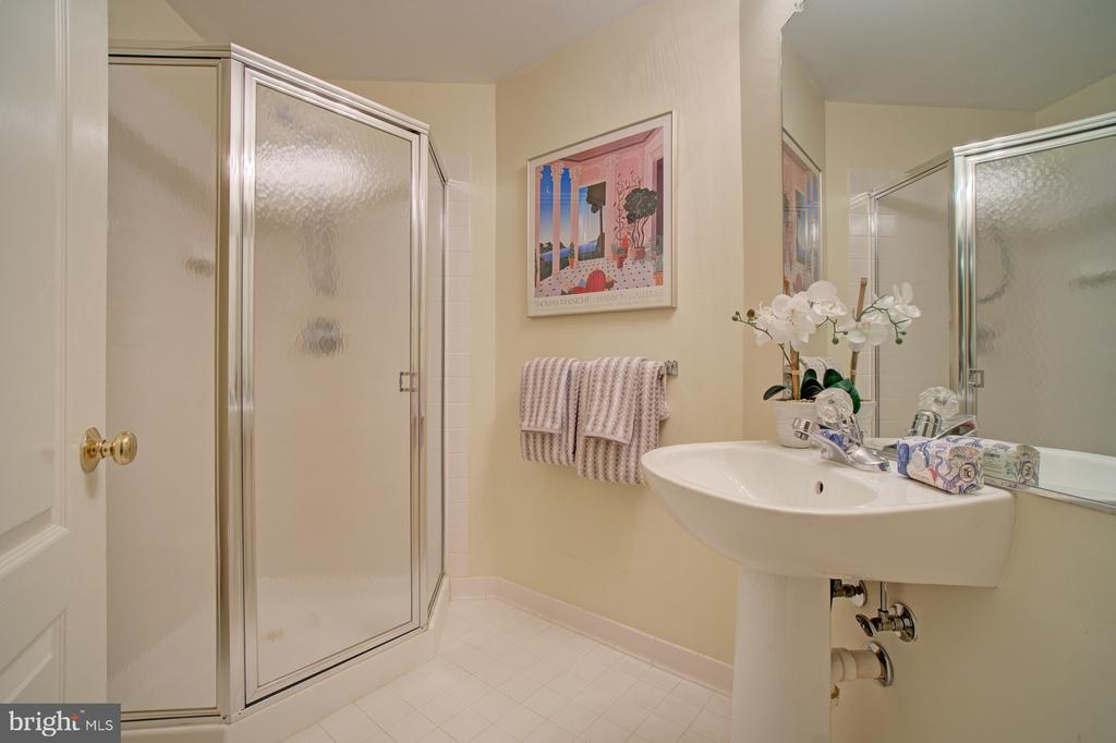 Lower level full bathroom. 5th bathroom! - 10753 BLAZE DR, RESTON