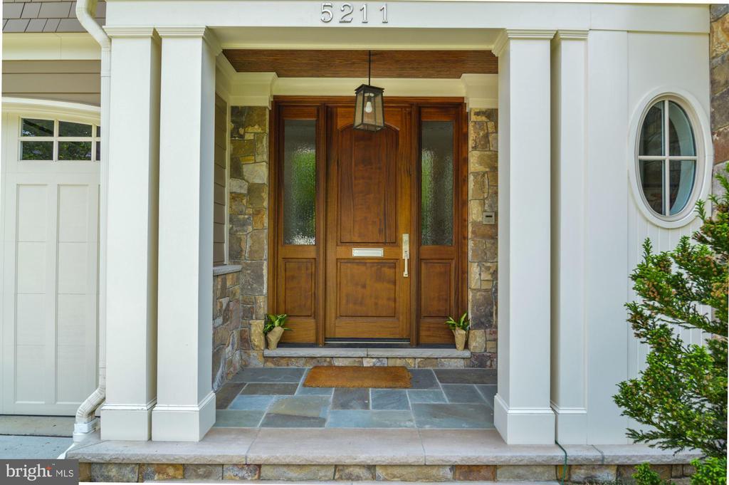 Exterior Covered Entry - 5211 CARLTON ST, BETHESDA