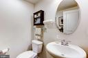 Lower level powder room - 3814 HANSBERRY CT NE, WASHINGTON