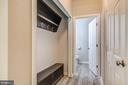 Half bath and custom closet from garage entry - 15536 BOAR RUN CT, MANASSAS