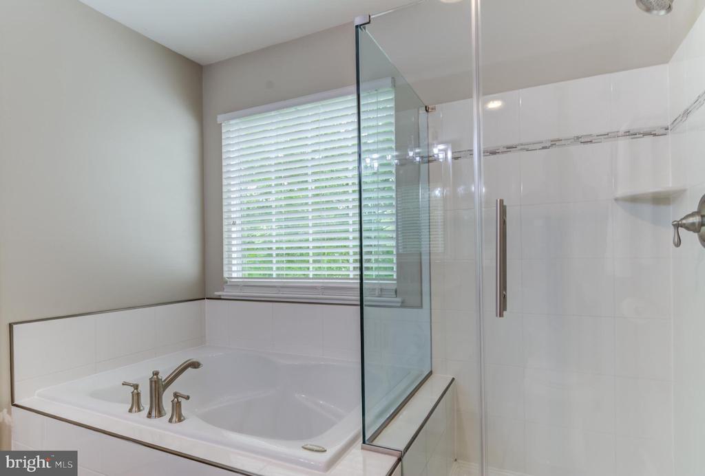 New tile & shower in master bathroom - 15536 BOAR RUN CT, MANASSAS