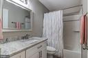 Hall bath has been completely remodeled - 15536 BOAR RUN CT, MANASSAS