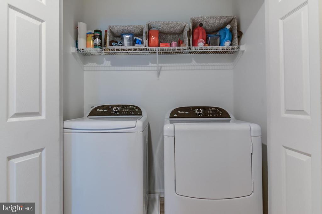 Upstairs/Bedroom level laundry - 15536 BOAR RUN CT, MANASSAS
