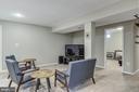 Basement rec room - 15536 BOAR RUN CT, MANASSAS