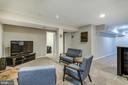 Rec room space in basement - 15536 BOAR RUN CT, MANASSAS