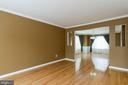Living Room with Hardwood Floors - 9310 E CARONDELET DR, MANASSAS PARK