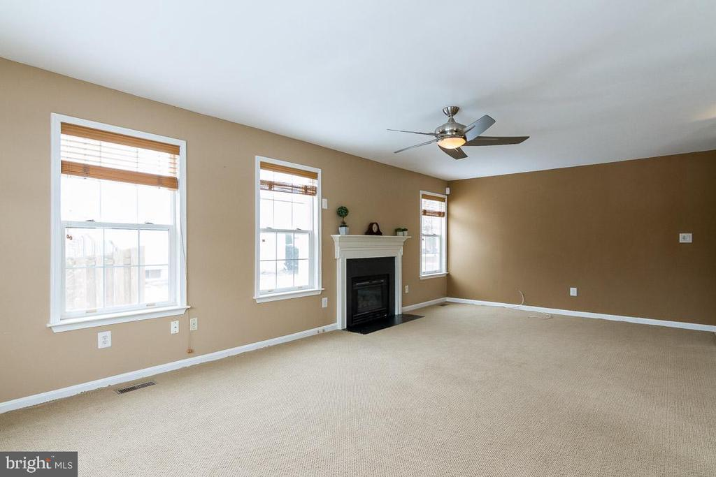 Family Room with Fireplace - 9310 E CARONDELET DR, MANASSAS PARK