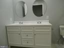 Double vanity in beautiful basement bath - 8643 WOODWARD AVE, ALEXANDRIA