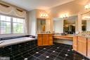 Master Bathroom with marble tile - 12709 OX MEADOW DR, HERNDON