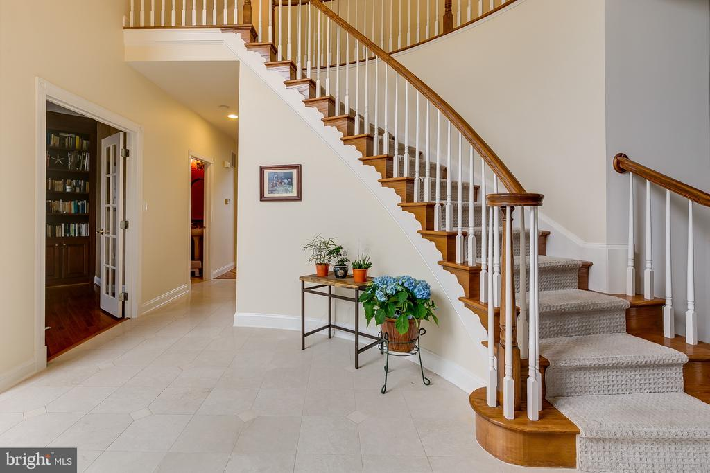 Entrance with marble flooring - 12709 OX MEADOW DR, HERNDON