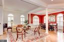 Open living room/dining room concept - 1734 N GEORGE MASON DR, ARLINGTON