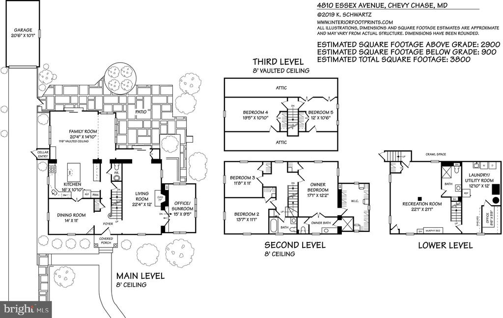 Floor Plan - 4810 ESSEX AVE, CHEVY CHASE
