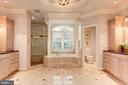 Spa like Master Bath w/ 2 vanities - 1734 N GEORGE MASON DR, ARLINGTON