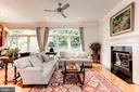Family room with gas fireplace - 1734 N GEORGE MASON DR, ARLINGTON