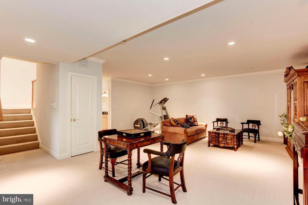 Lower level w/ high ceilings, full bath and BR - 1734 N GEORGE MASON DR, ARLINGTON