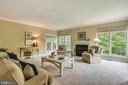 Large Family Rm with Wall of window flows to Porch - 6846 CREEK CREST WAY, SPRINGFIELD