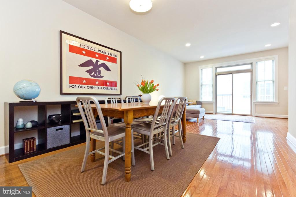 Gleaming hardwood floors/Dining Room - 2624 S KENMORE, ARLINGTON