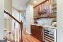 Bar with Beverage Fridge and Sink - 19060 AMUR CT, LEESBURG