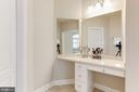 Owner's Bath/Make-Up Counter - 19060 AMUR CT, LEESBURG