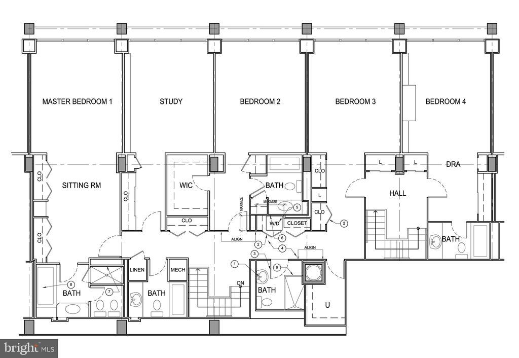 Floor Plan - Upper Level - 2700 VIRGINIA AVE NW #101/102, WASHINGTON