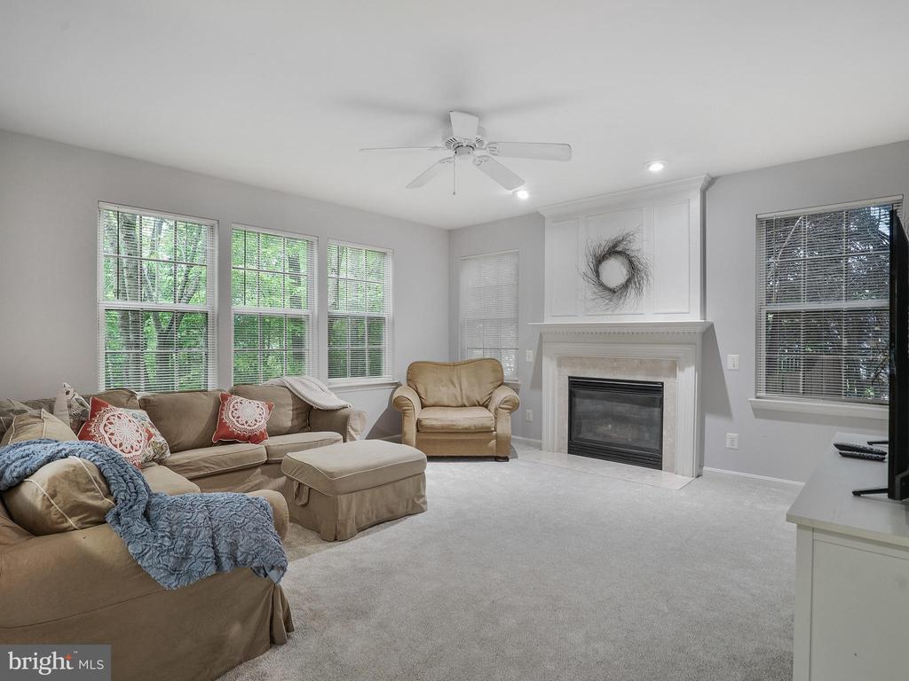 Cozy Family Room with Gas Fireplace - 5947 HARVEST SUN RD, WOODBRIDGE
