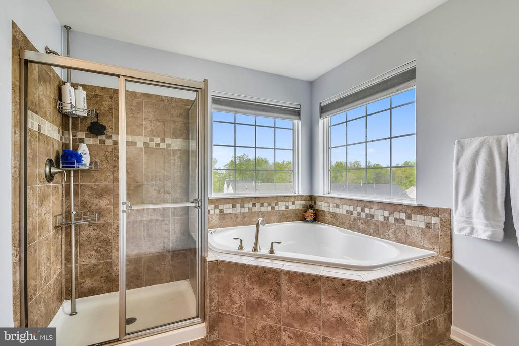 Separate shower and garden tub - 11 CORNERSTONE DR, STAFFORD