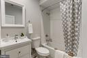 Lower level bathroom w/tub - 1508 CAROLINE ST NW, WASHINGTON