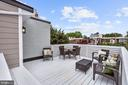 Roof deck w/wine fridge and prep area - 1508 CAROLINE ST NW, WASHINGTON