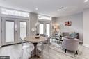 Lower level legal unit living area w/French doors - 1508 CAROLINE ST NW, WASHINGTON