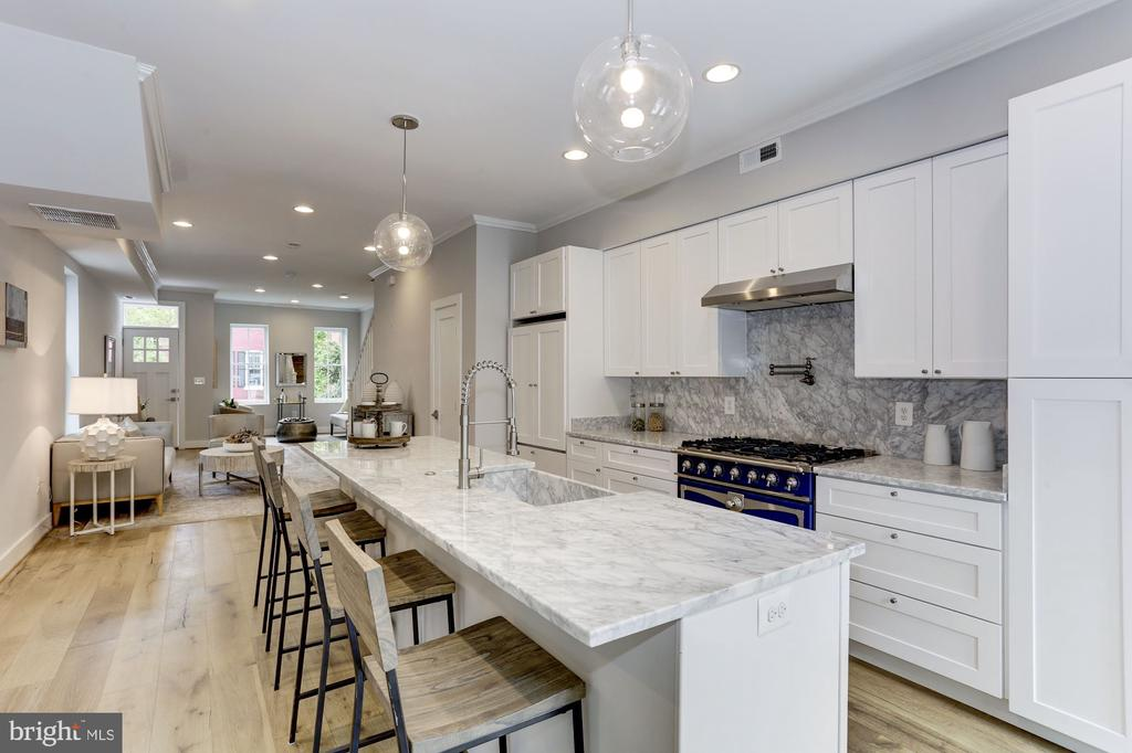 Kitchen featuring Carrara marble - 1508 CAROLINE ST NW, WASHINGTON