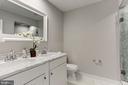 Marble master bathroom w/standing shower - 1508 CAROLINE ST NW, WASHINGTON