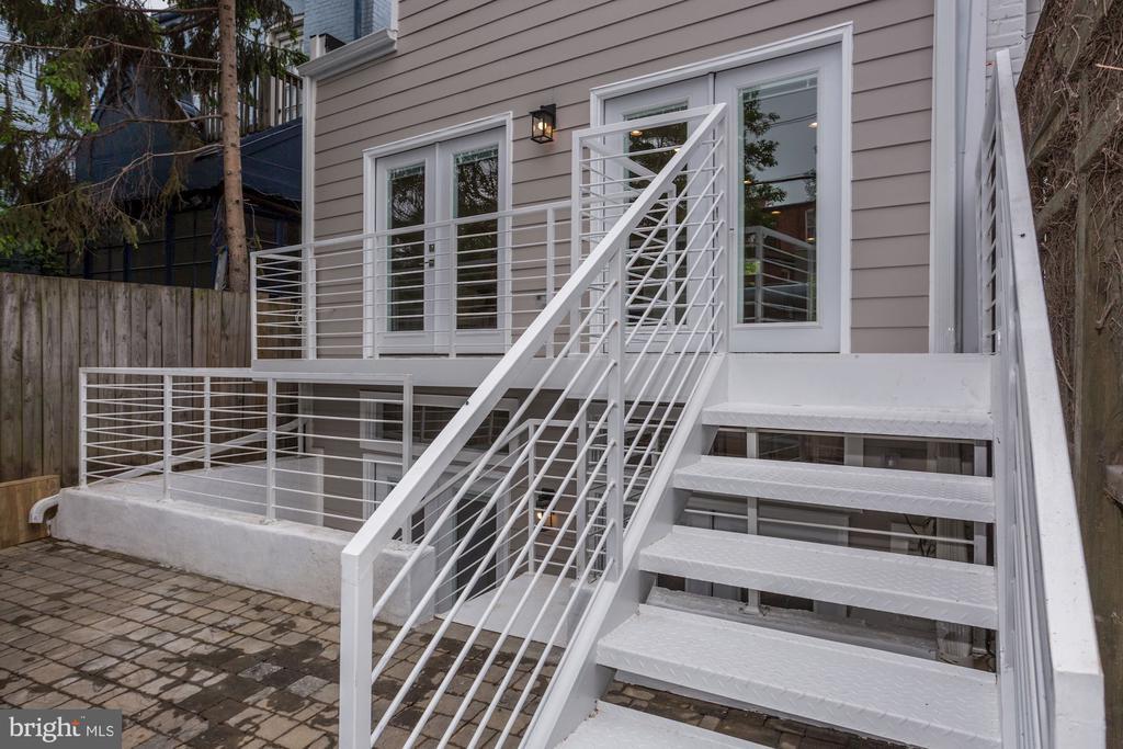 Rear balcony and parking pad - 1508 CAROLINE ST NW, WASHINGTON
