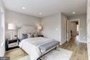 Master bedroom w/custom wardrobe &. built-ins - 1508 CAROLINE ST NW, WASHINGTON