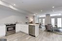 Lower level legal unit kitchen and living space - 1508 CAROLINE ST NW, WASHINGTON