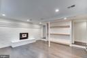 Basement rec room- great ceiling height!! - 5100 26TH RD N, ARLINGTON
