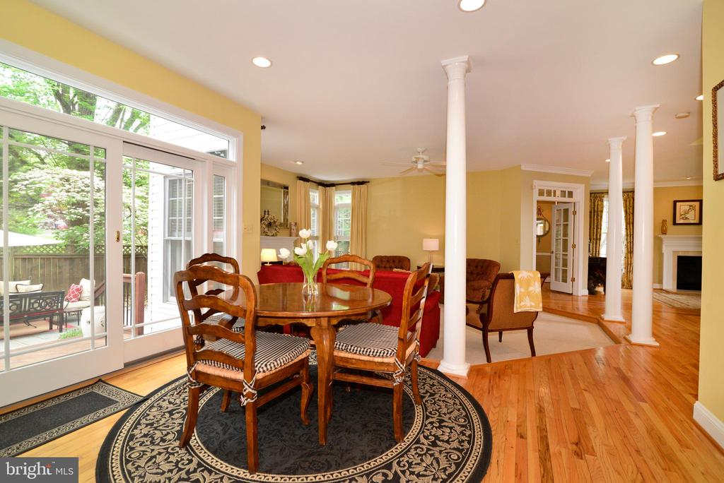 View of breakfast room which opens to family room. - 2403 SAGARMAL CT, DUNN LORING