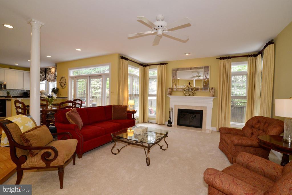 Inviting family room with wood burning fireplace. - 2403 SAGARMAL CT, DUNN LORING