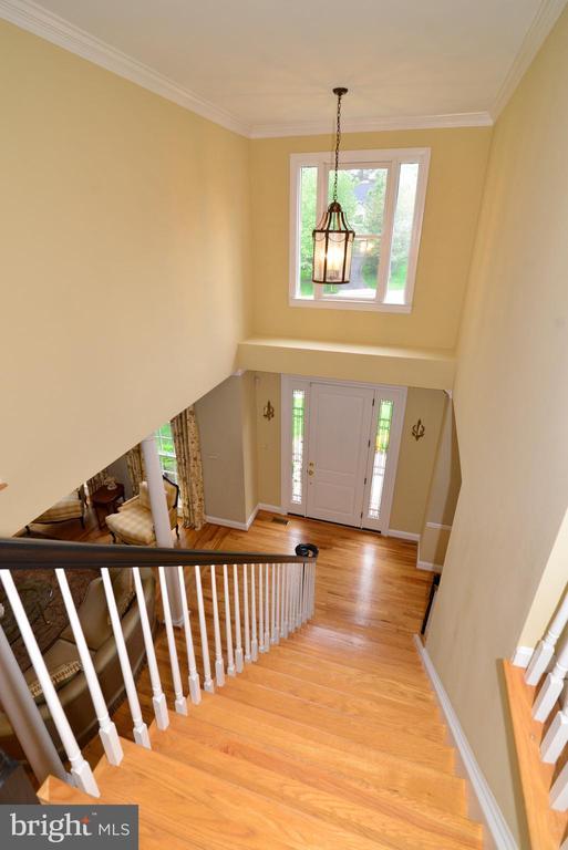 View of dramatic 2-story foyer. - 2403 SAGARMAL CT, DUNN LORING