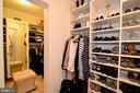 Custom owner's suite walk-in closet. - 2403 SAGARMAL CT, DUNN LORING