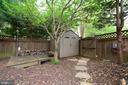 Back yard with shed. - 2403 SAGARMAL CT, DUNN LORING