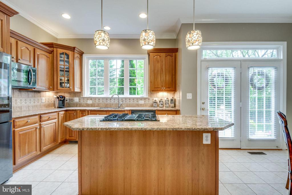 French Doors lead from Kitchen to Rear & Patio - 42841 SANDHURST CT, BROADLANDS
