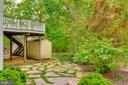 Flagstone patio - 16924 OLD SAWMILL RD, WOODBINE
