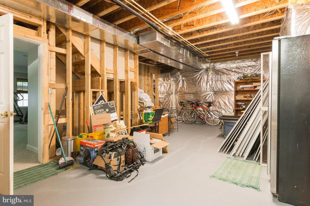 Unfinished lower level- storage - 16924 OLD SAWMILL RD, WOODBINE