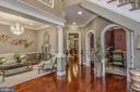 Foyer opens to Formal Living & Dining Room - 8421 FALCONE POINTE WAY, VIENNA