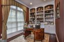 Main Level Office w/ Built-in Bookcases - 8421 FALCONE POINTE WAY, VIENNA