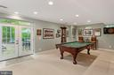 Game Room is Lower Level & Walkout to Patio - 8512 CATHEDRAL FOREST DR, FAIRFAX STATION