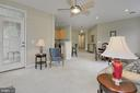 Spacious living room with door to private deck - 4310-T CANNON RIDGE CT #92, FAIRFAX
