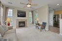 Living room with gas fireplace - 4310-T CANNON RIDGE CT #92, FAIRFAX