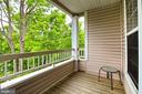 Private deck - 4310-T CANNON RIDGE CT #92, FAIRFAX